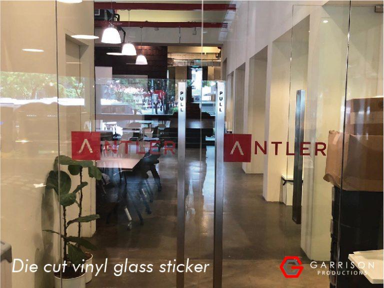 Glass sticker